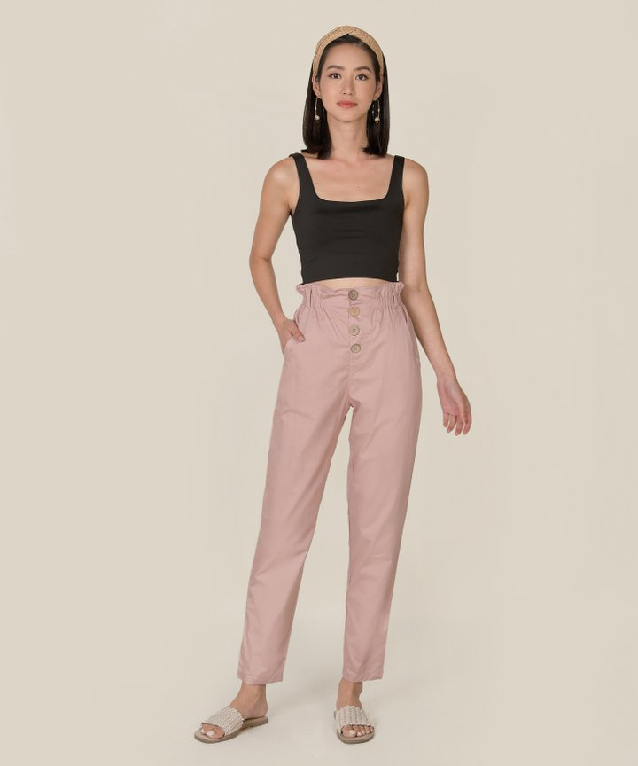 Cliff Paperbag Pants - Dust Pink