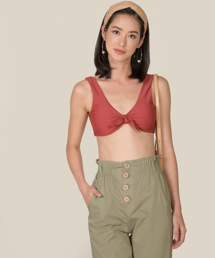 Cliff Paperbag Pants - Laurel Green