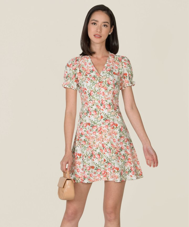Florian Button Down Floral Dress