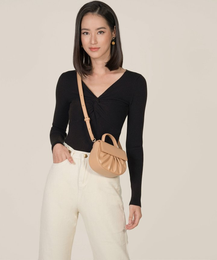 Hatia Knit Knot Top - Black
