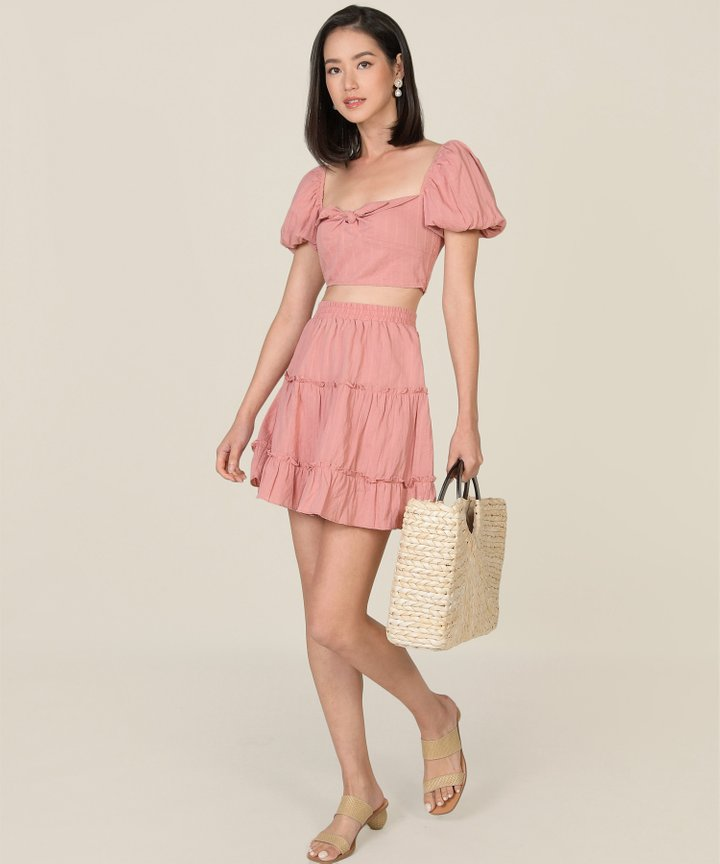 HVV Atelier Poetry Embroidered Co-ord - Rose Pink