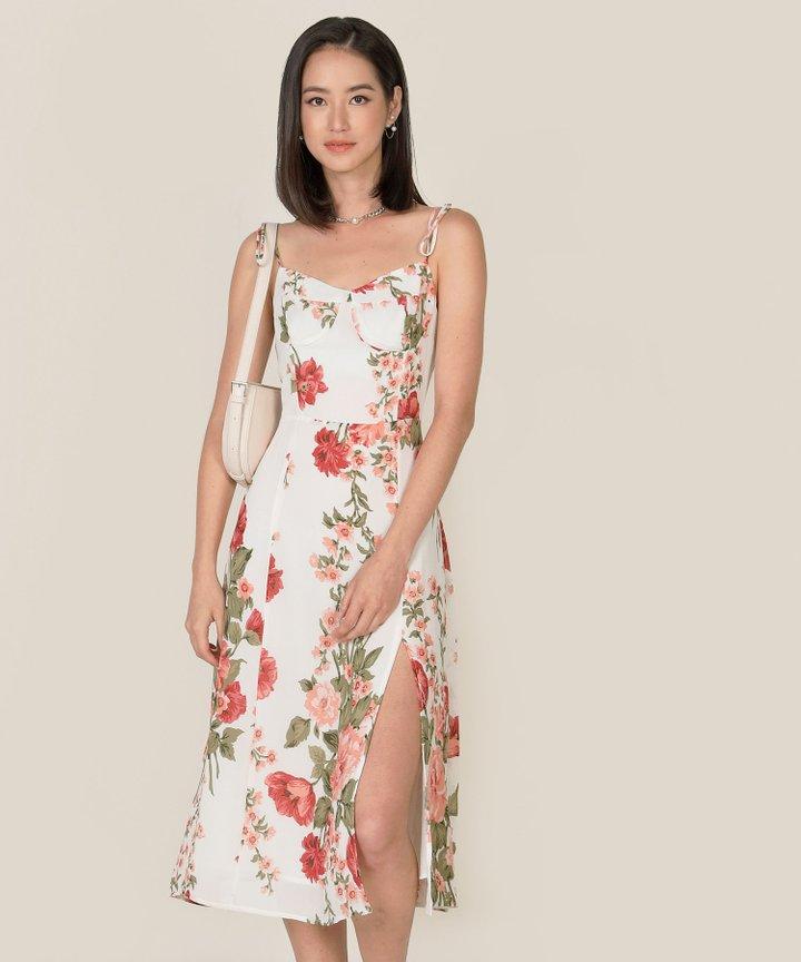 Marsanne Floral Corset Midi Dress (Backorder)