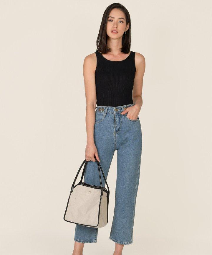 Mission Straight Leg Jeans - Medium Blue