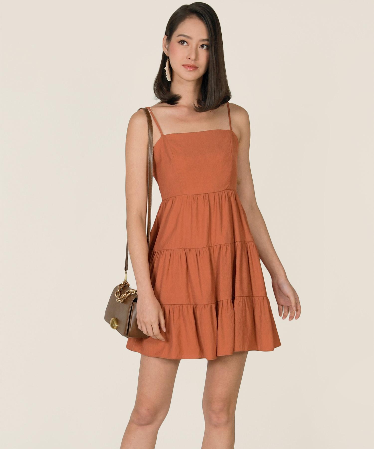 castella-linen-tiered-dress-terracotta-1