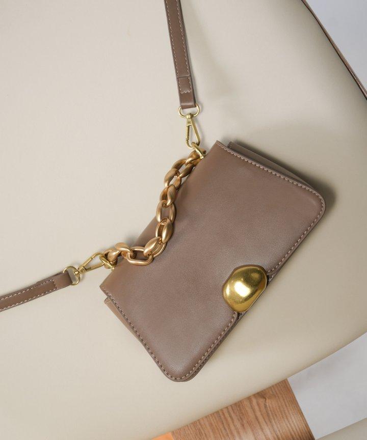 Bistro Chain Handle Bag - Chocolate