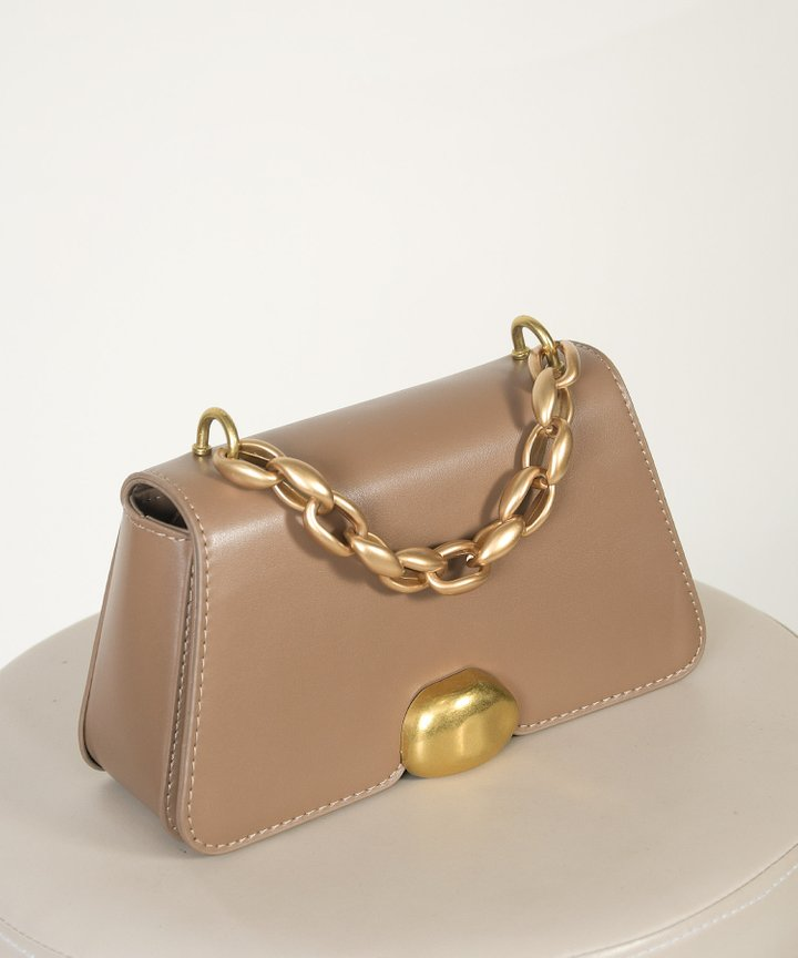 Bistro Chain Handle Bag - Taupe