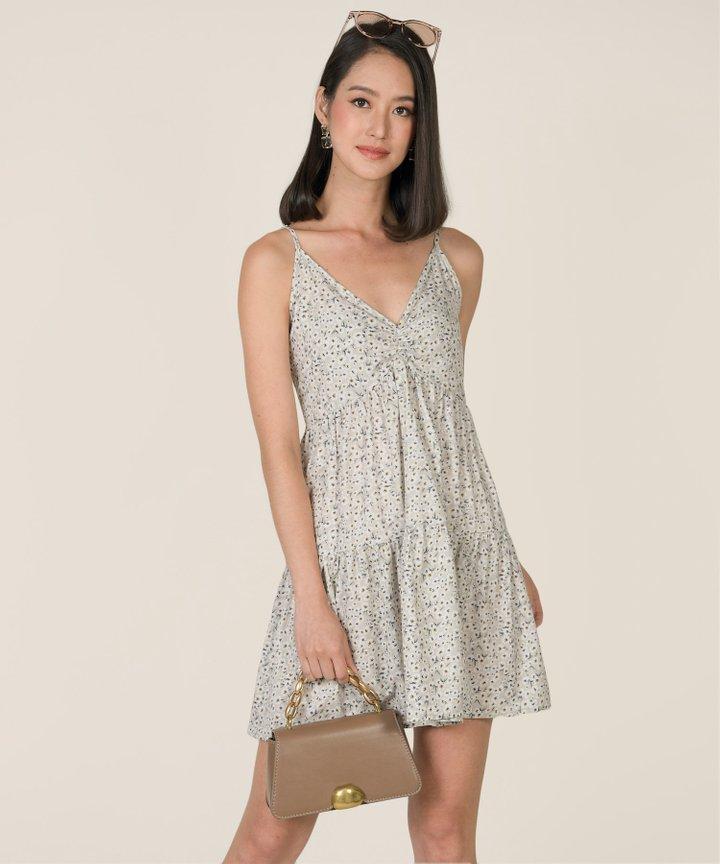 Emman Floral Ruched Dress (Backorder)