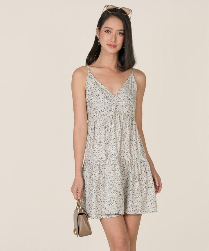 Emman Floral Ruched Dress (Restock)