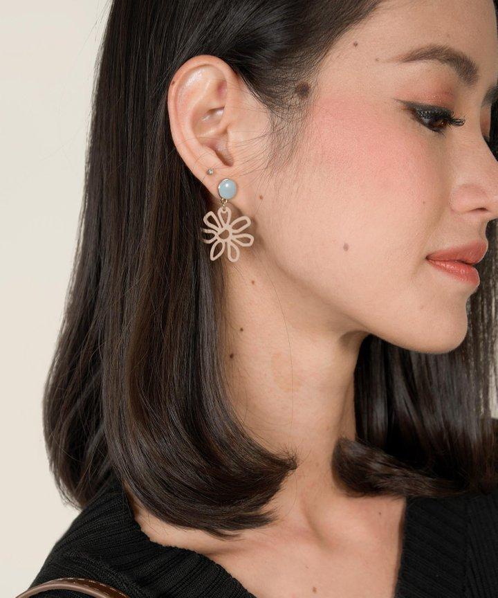 Heron Abstract Floral Earrings