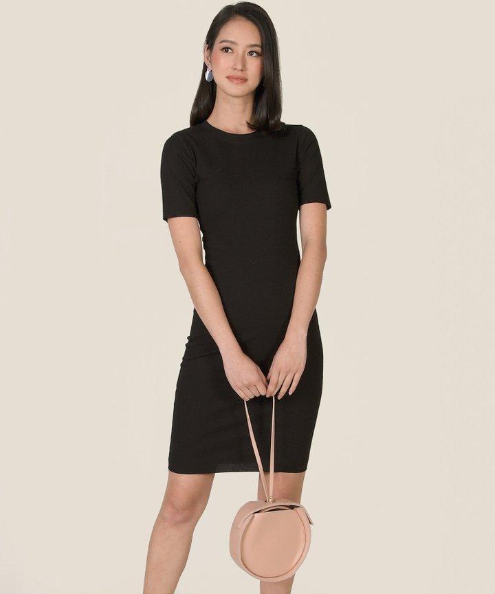 Issey Knit Midi Dress - Black