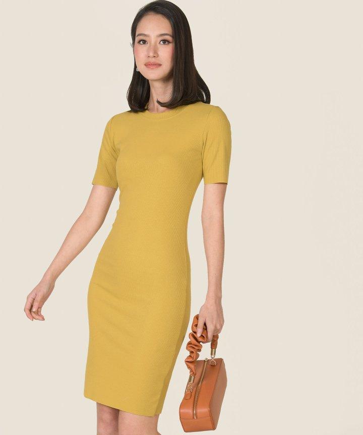 Issey Knit Midi Dress - Mimosa