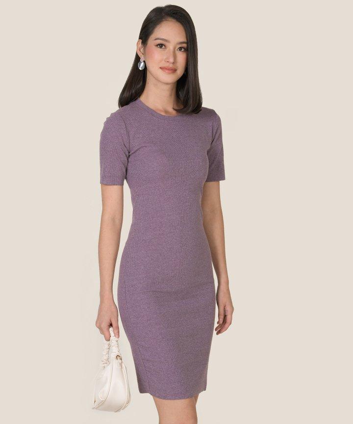 Issey Knit Midi Dress - Periwinkle