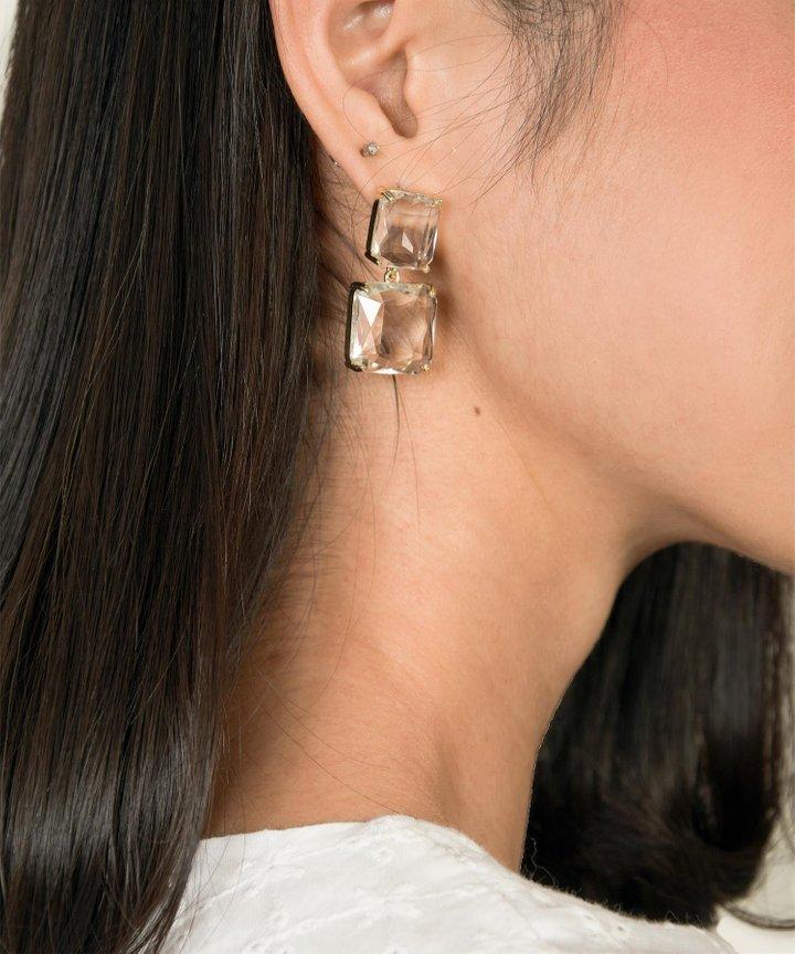 Laguna Clear Bejewelled Earrings
