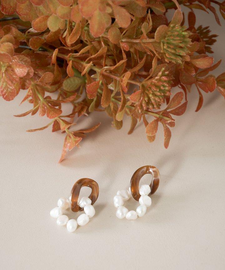 Rochas Pearl Link Earrings