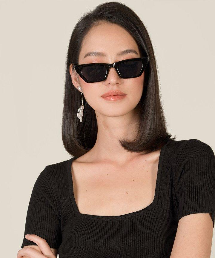 Zio Cat-Eye Acetate Sunglasses - Black