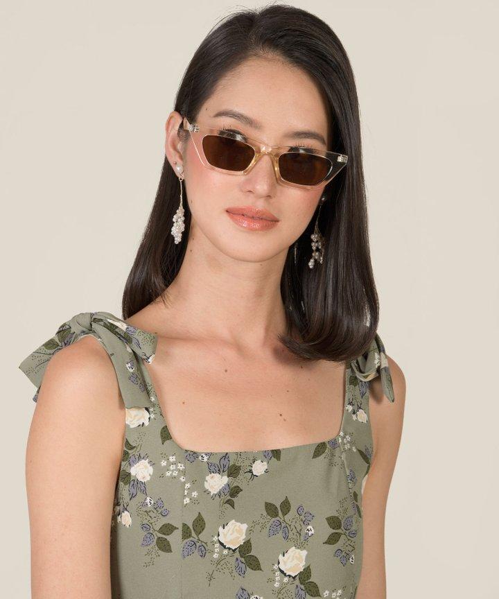 Zio Cat-Eye Acetate Sunglasses - Clear