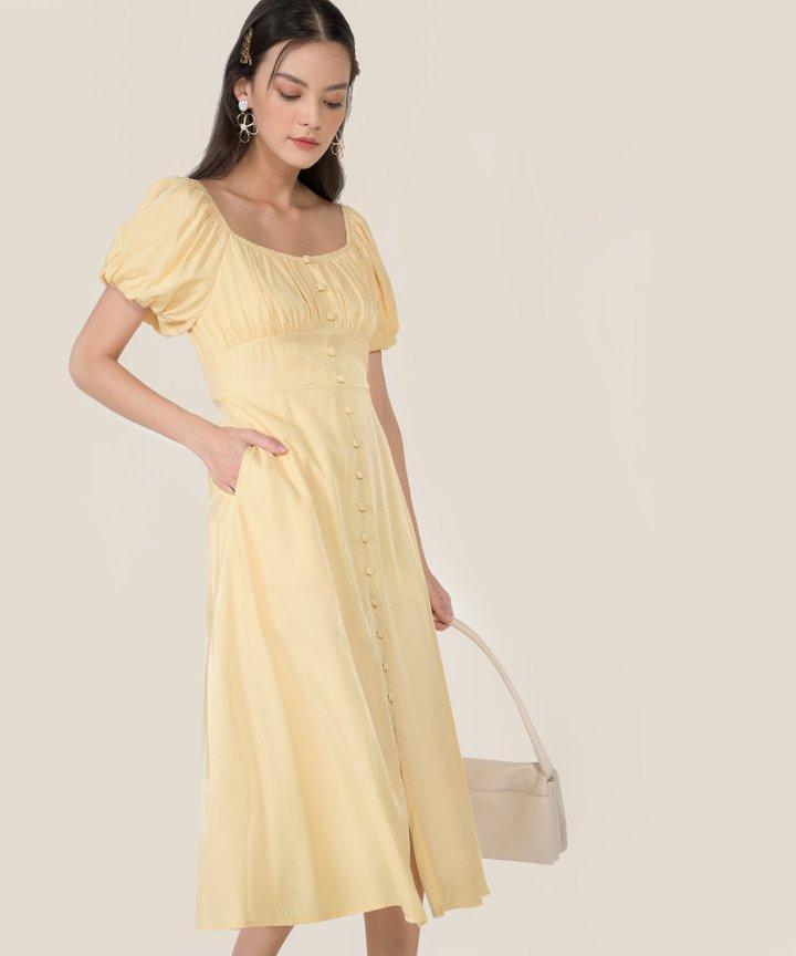 Antilia Ruched Button Down Midi Dress - Bundle of 2