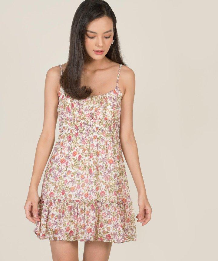 Botany Floral Babydoll Dress - Pastel