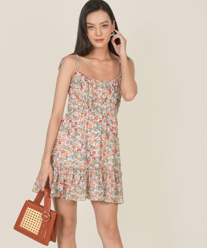 Botany Floral Babydoll Dress - Warm
