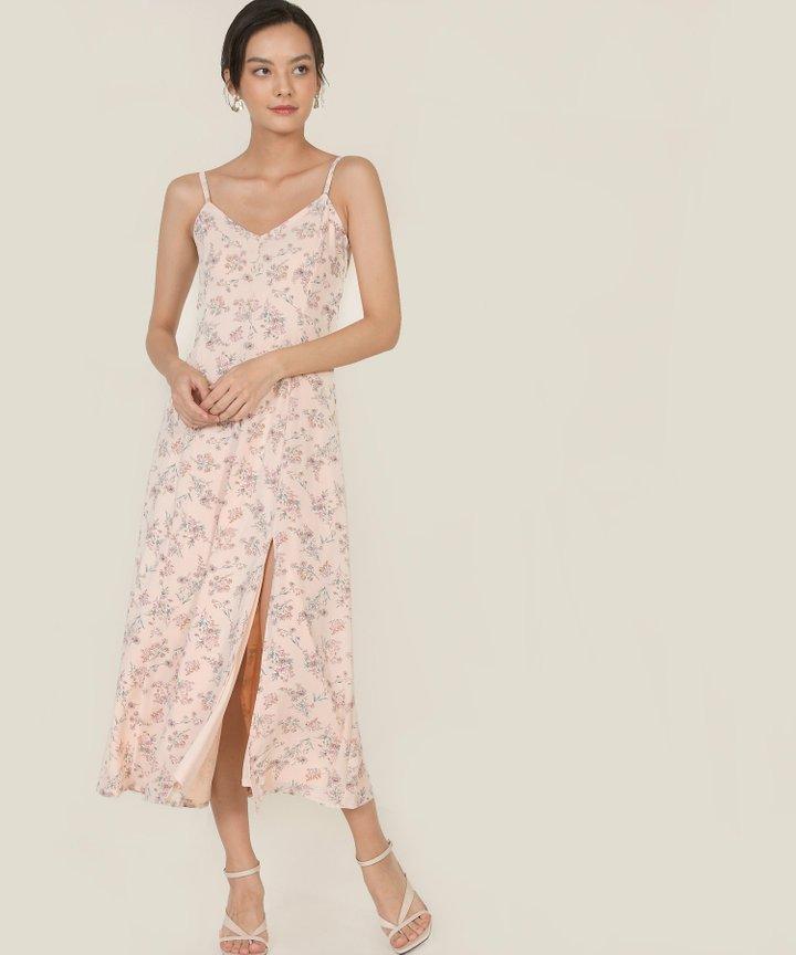 Elliot Floral Maxi Dress - Pale Pink