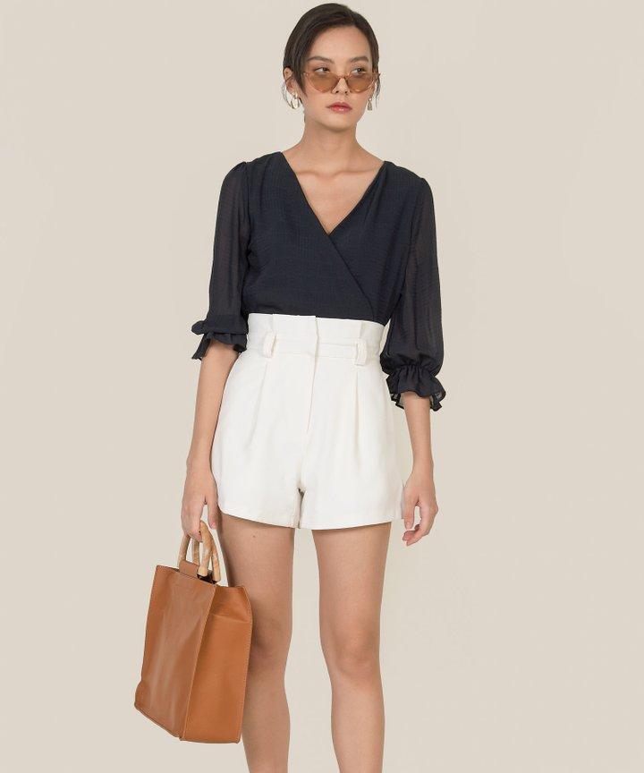 Franca Paperbag Shorts - White