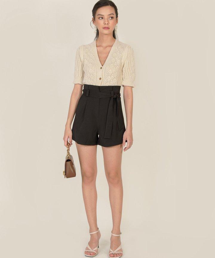 Franca Paperbag Shorts - Black
