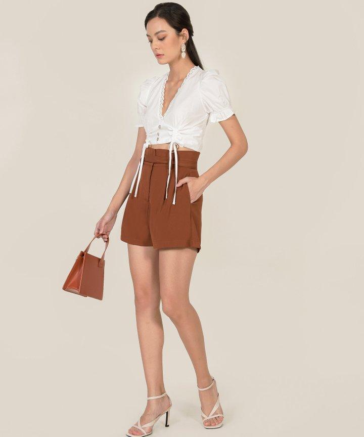 Franca Paperbag Shorts - Ginger Brown