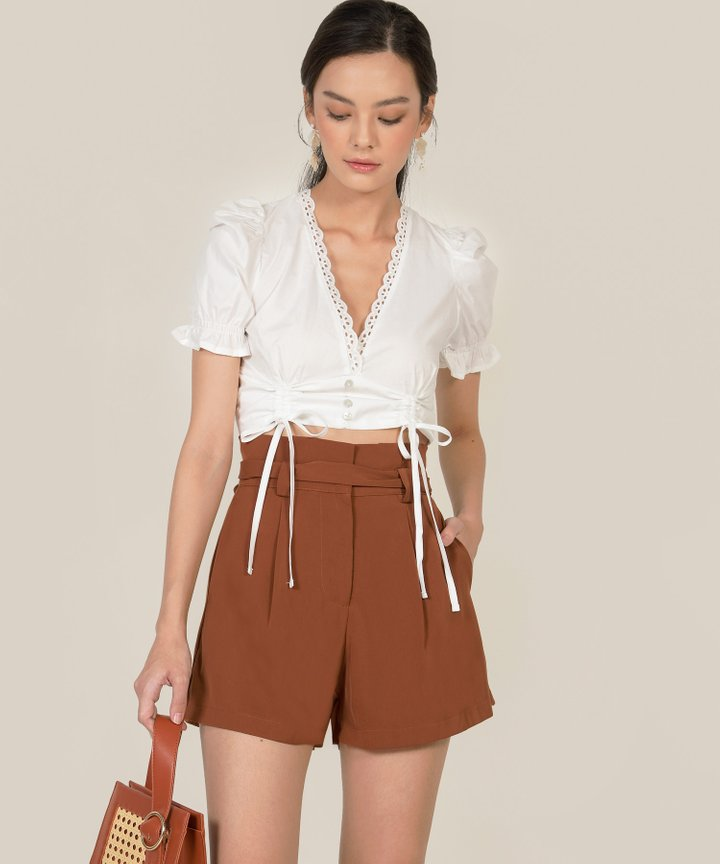 Hallen Ruched Cropped Top