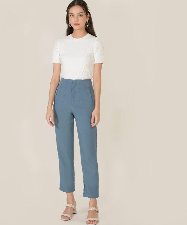 Jette Tailored Pants - Lucerne Blue