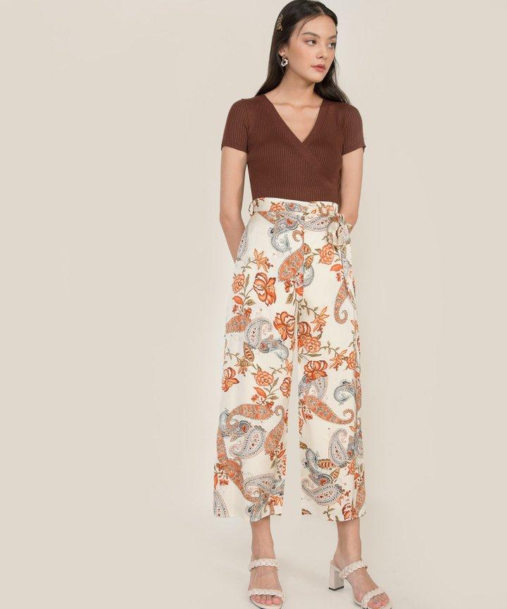 Marrakech Paisley Wide Leg Pants - Ivory