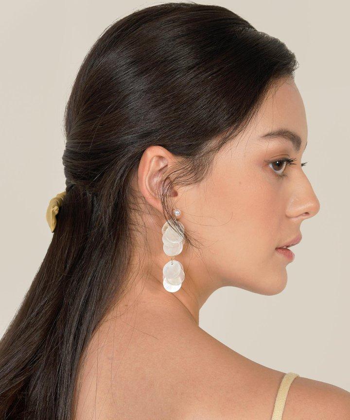 Piquant Circle Drop Earrings