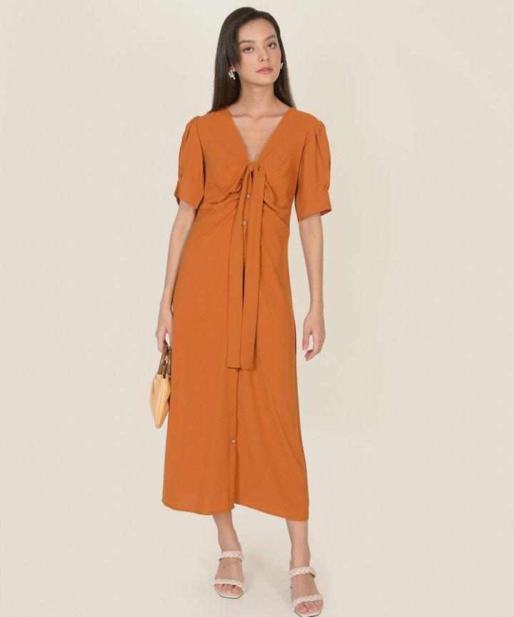 Spirited Tie-Front Midaxi Dress