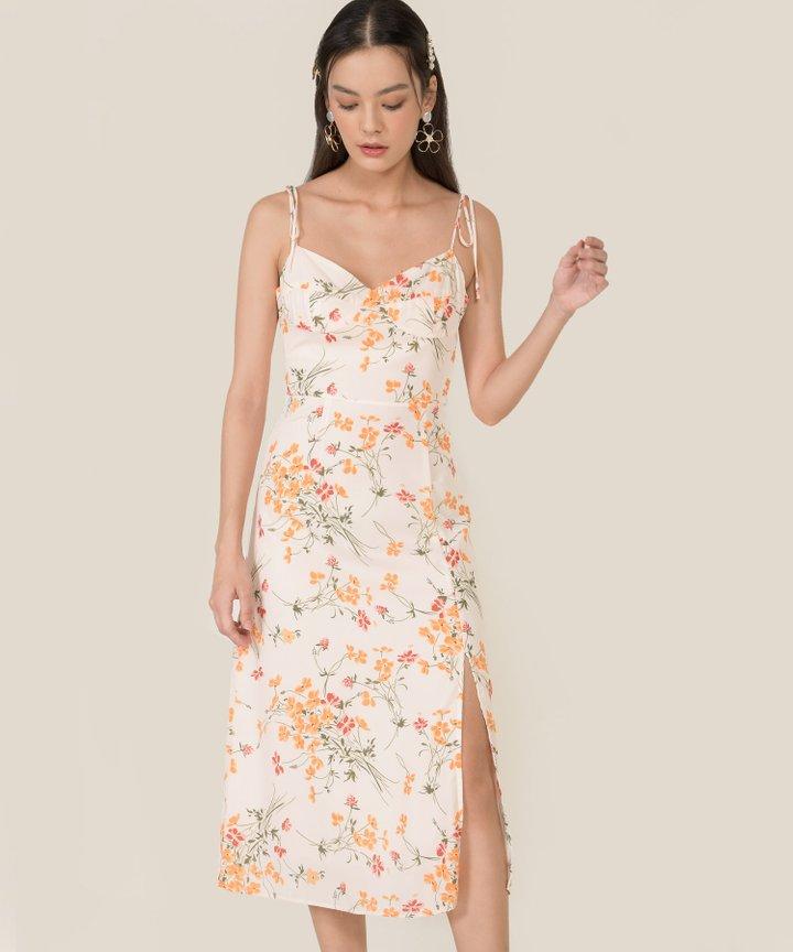 Whistle Floral Tie Shoulder Midi Dress
