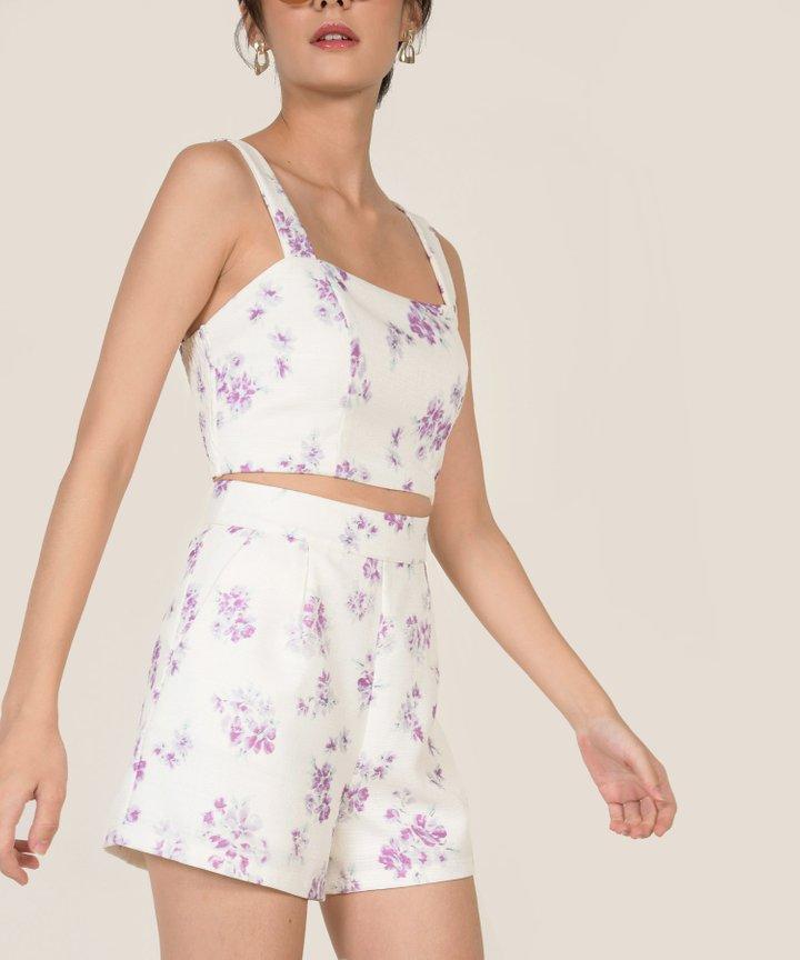 Winona Floral Linen Co-ord - Lavender