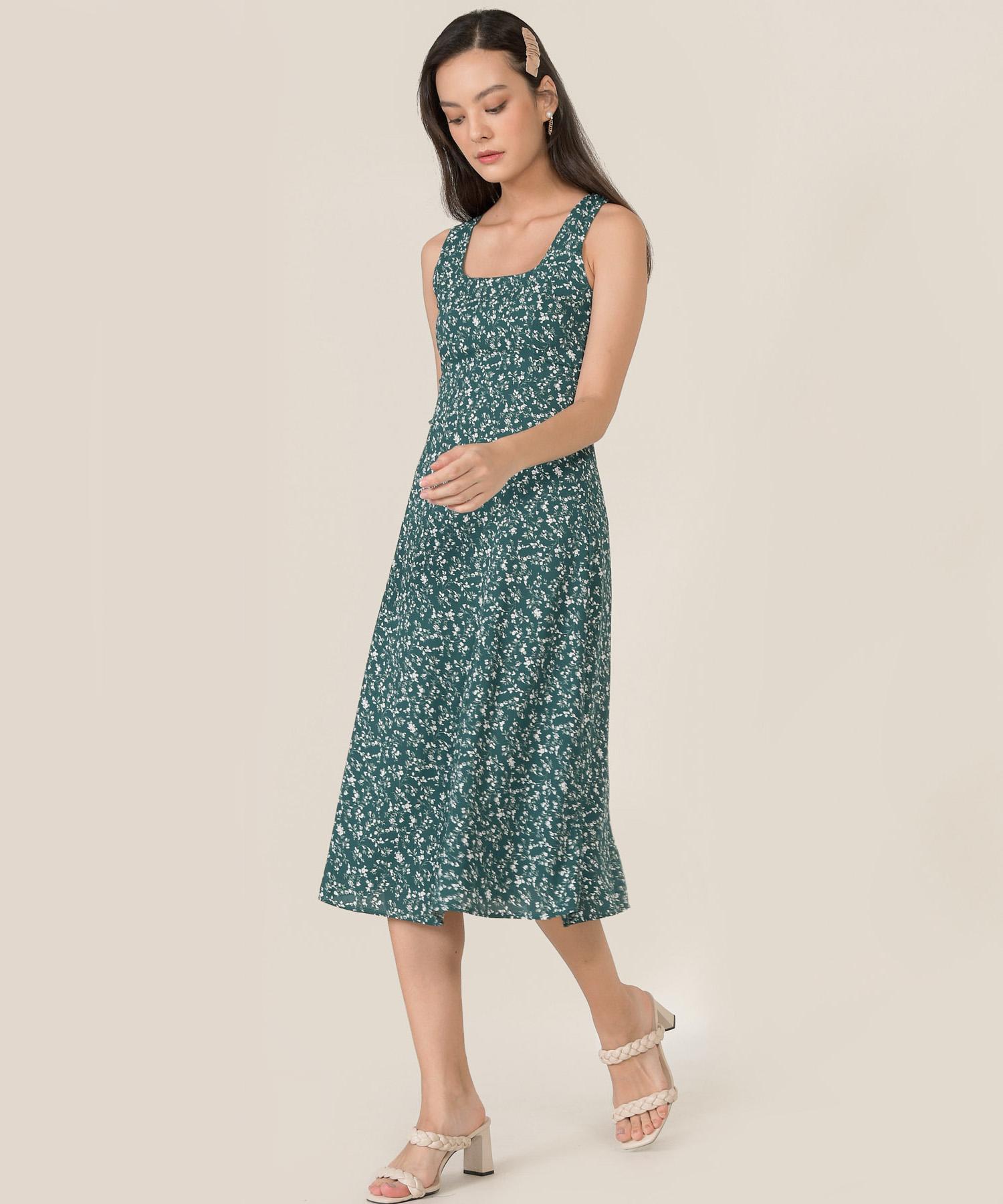 zeta-floral-square-neck-midi-dress-pine-1
