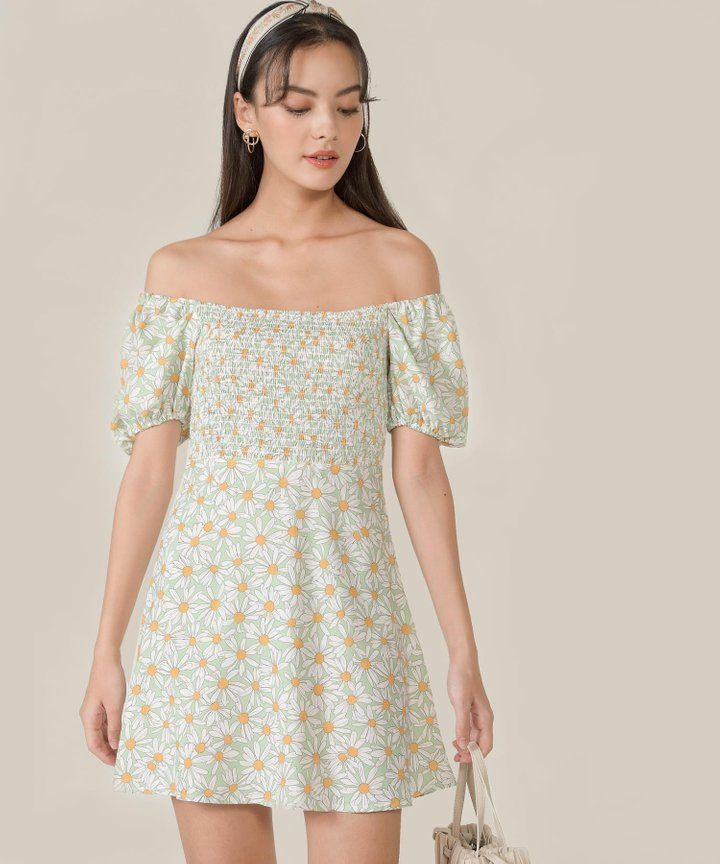 Allaire Floral Smocked Dress