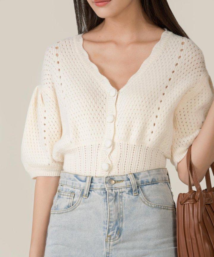 Cluny Crochet Knit Cardigan (Backorder)