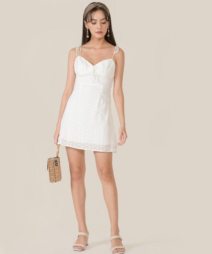 Coast Eyelet Ruched Dress