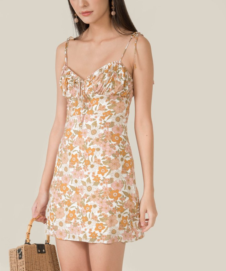 Coast Floral Ruched Dress