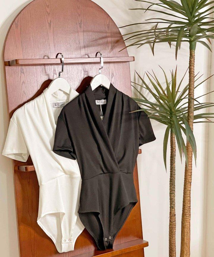 Sloane Knit Overlay Bodysuit  - Bundle of 2