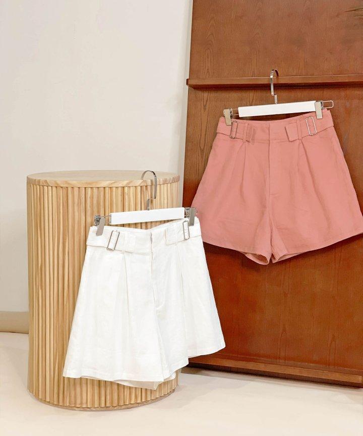 Viola Linen Buckle Shorts - Bundle of 2