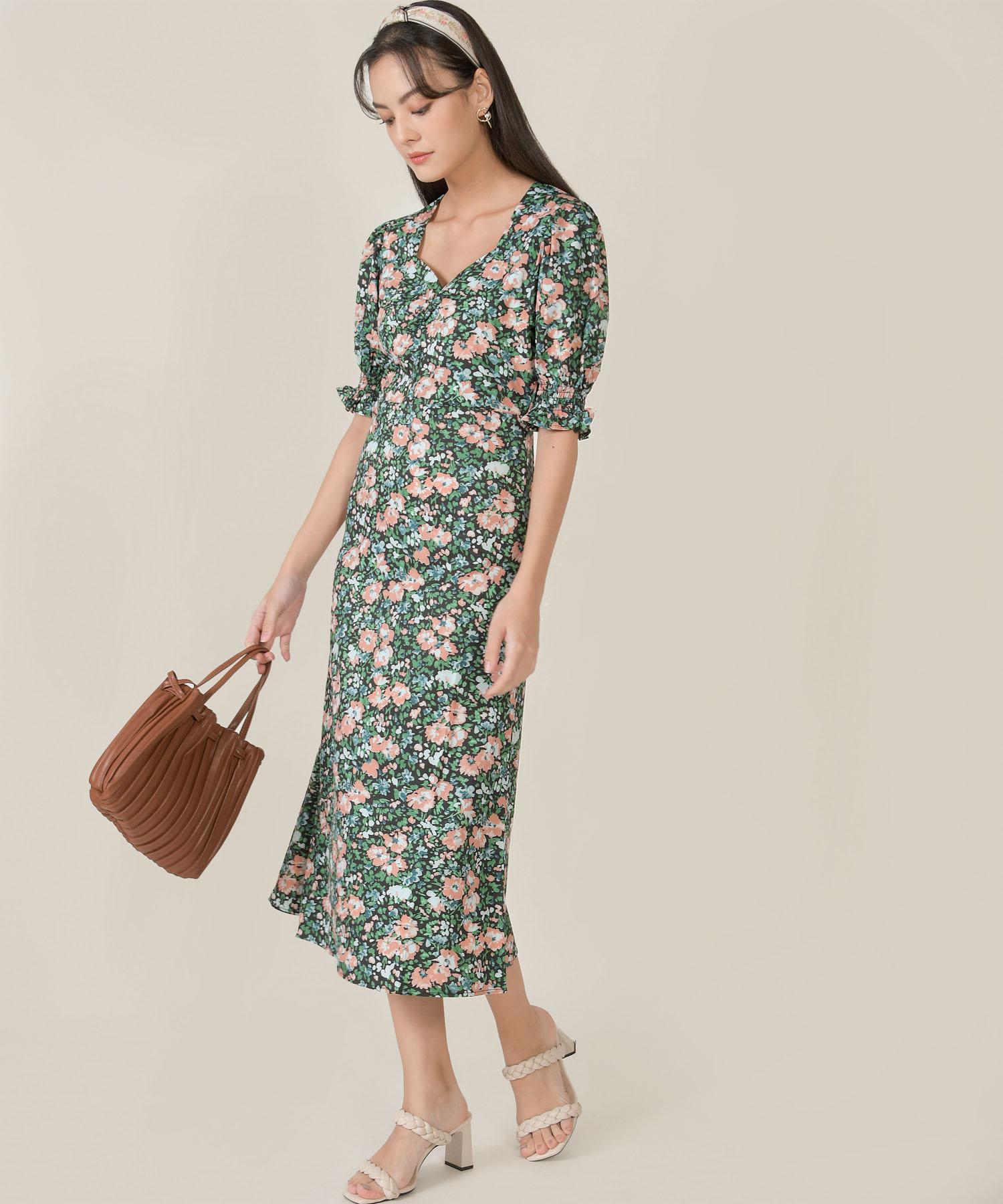 botaniste-floral-puff-sleeve-midi-dress-1