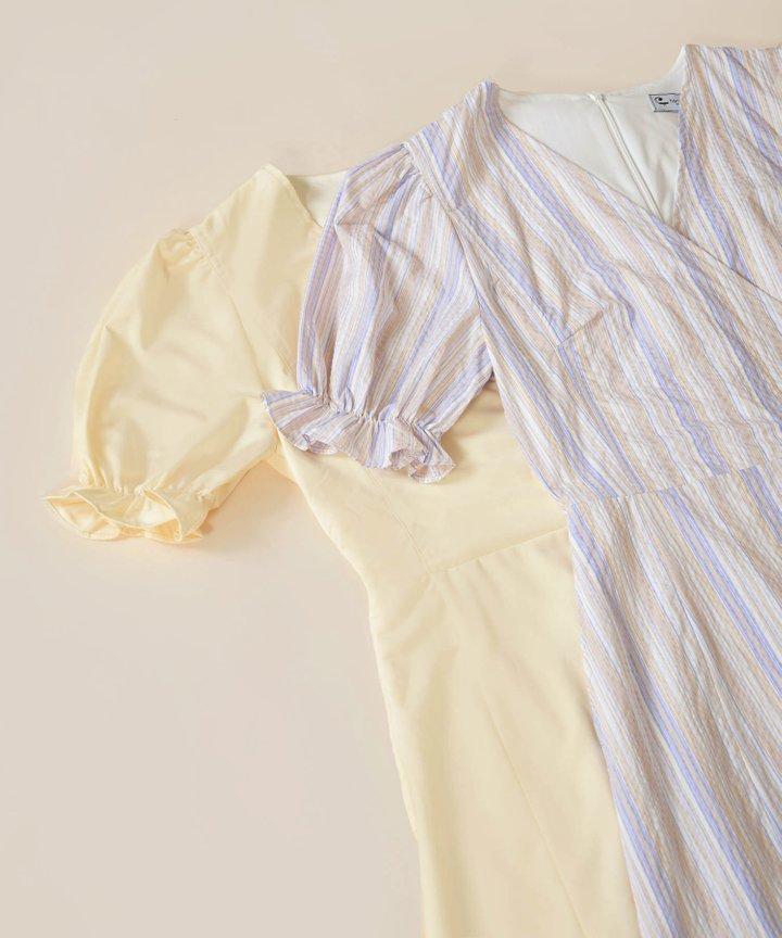 Aneta Puff Sleeve Wrap Dress - Bundle of 2
