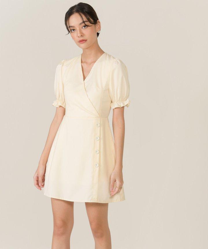 Aneta Puff Sleeve Wrap Dress