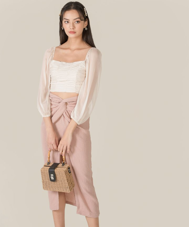 Bella Ruched Cropped Top - Bundle of 2