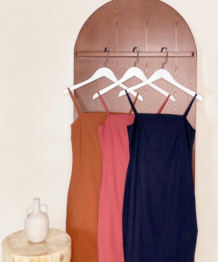 McKenna Linen Column Midi Dress - Bundle of 3