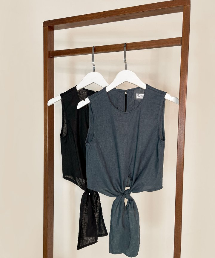 Shelby Linen Cropped Top - Bundle of 2