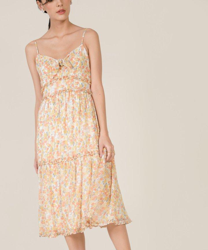 Talisa Floral Tie-Front Midi Dress - Spring