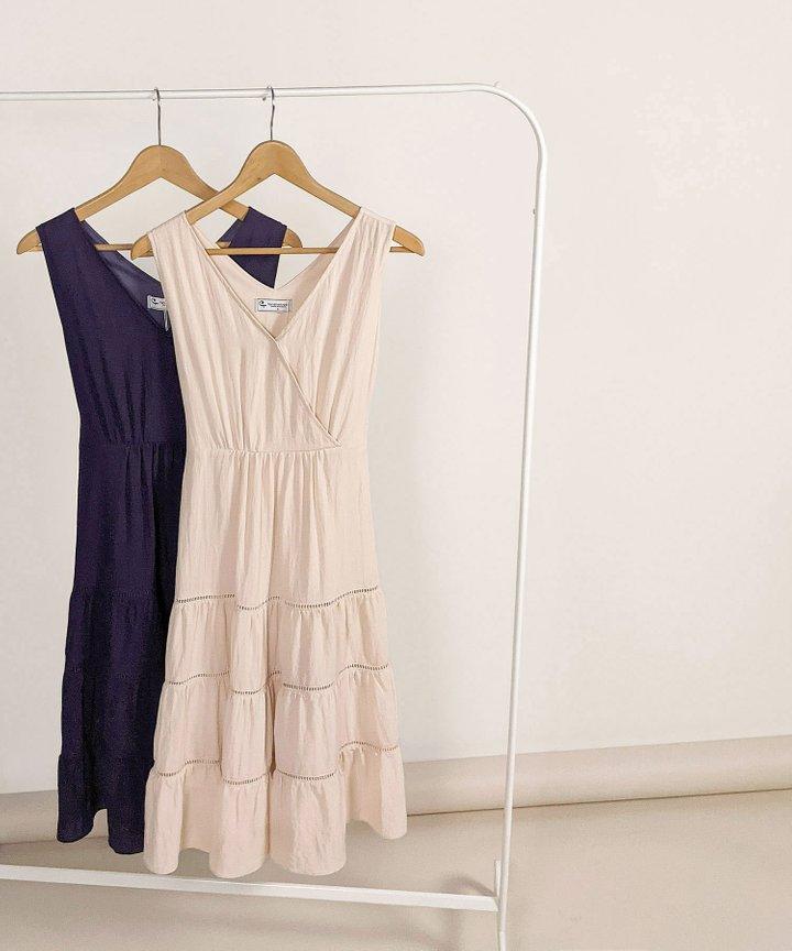 Clarisse Linen Tiered Midi Dress - Bundle of 2