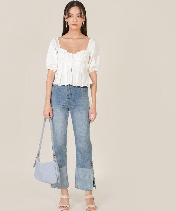 Rhiannon Contrast Straight Jeans